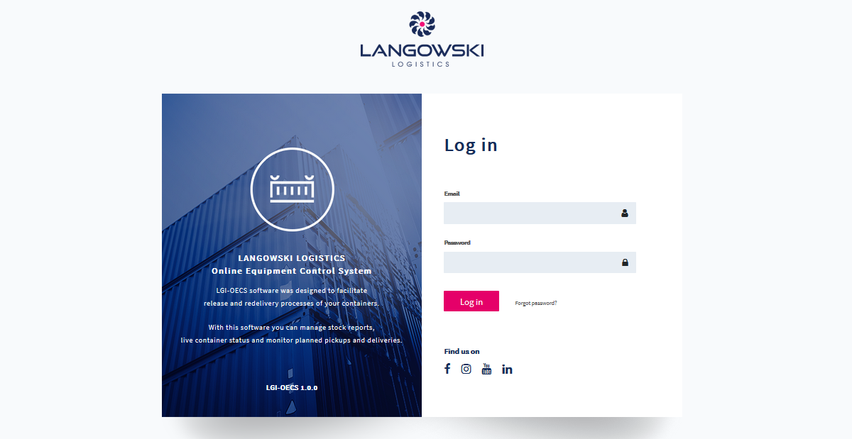 Langowski Logistics Online Equipment Control System